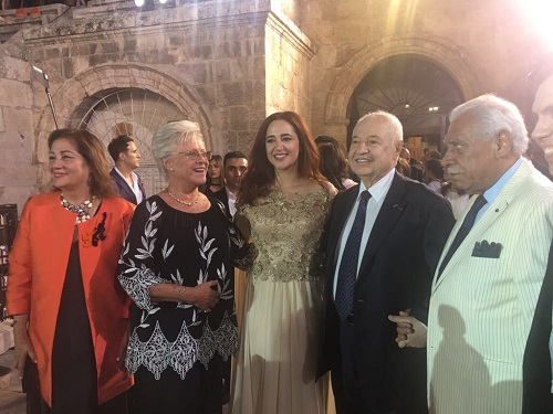 HE Dr. Talal Abu-Ghazaleh during the first Amman Opera Festival which was held under the Royal Patronage of HRH Princess Muna Al-Hussein at the Roman Amphitheater in Downtown Amman.
