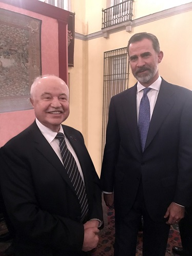 HE Dr. Talal Abu-Ghazaleh meets His Majesty King Felipe VI of Spain and calls for hosting a Regional Office for the UNWTO in Amman