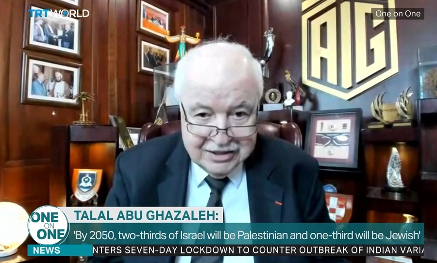 In an interview with TRT World TV Abu-Ghazaleh: Every Occupation throughout History Ended with Liberation