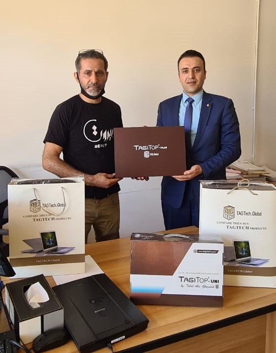 Abu-Ghazaleh Presents Laptops to Lebanon's IP Protection Directorate as Gifts