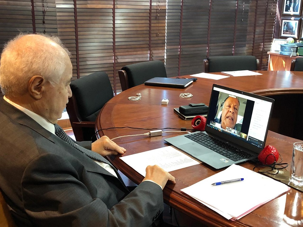 During his speech at the Virtual International Meeting for Investment in Africa Abu-Ghazaleh: Economic Protection Lies in Self-Sufficiency and Establishing Crisis Management Team