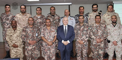 HE Dr. Talal Abu-Ghazaleh patronizes a workshop for Jordanian, Kuwaiti and Bahraini military and security officers
