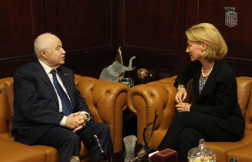 HE Dr. Talal Abu-Ghazaleh receives HE Ms. Alice G. Wells, the Ambassador of the United States to Jordan after the end of here mission in Jordan