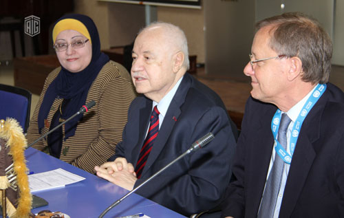 HE Dr. Talal Abu-Ghazaleh inaugurates the integration of media education and information technology in the educational process at UNRWA schools initiative