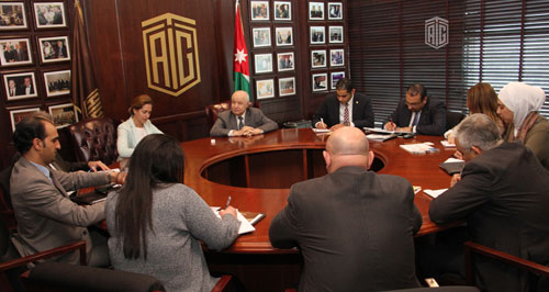 HE Dr. Talal Abu-Ghazaleh and UNDP new Country Director HE Ms. Sara Ferrer Olivella discuss future cooperation