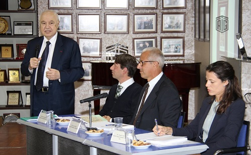 HE Dr. Talal Abu-Ghazaleh and the Italian Ambassador to Jordan HE Mr. Giovanni Brauzzi at the opening of the Office of the Italian Archaeological Union in Jordan, which comes in a cooperation with