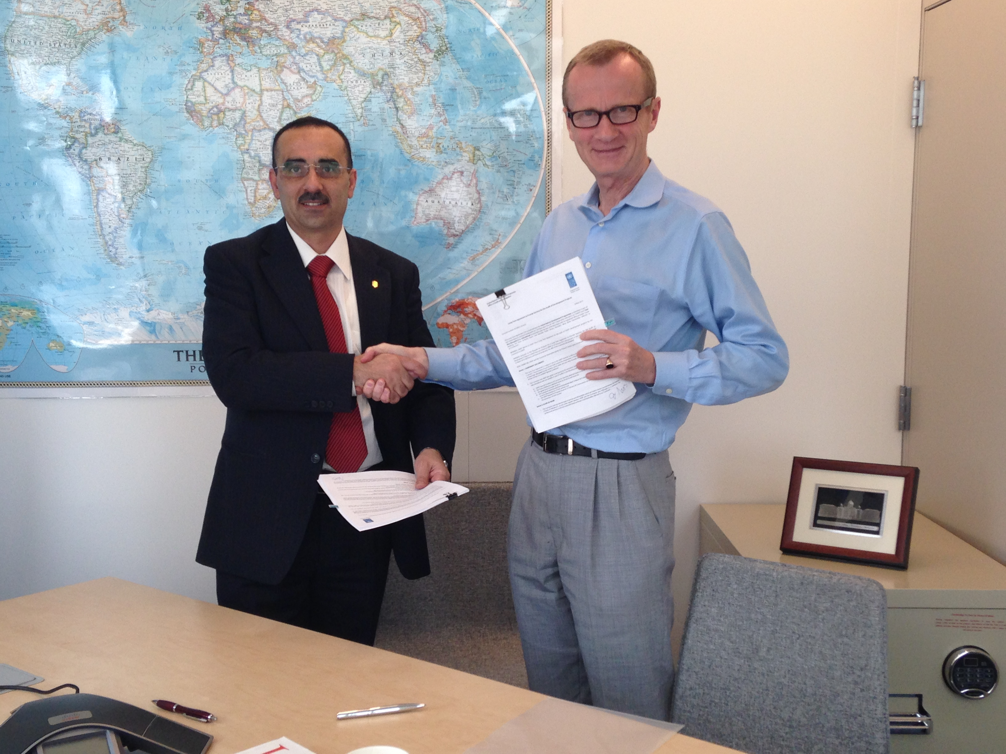 TAGI-Auditors and UNDP Sign an Audit Agreement