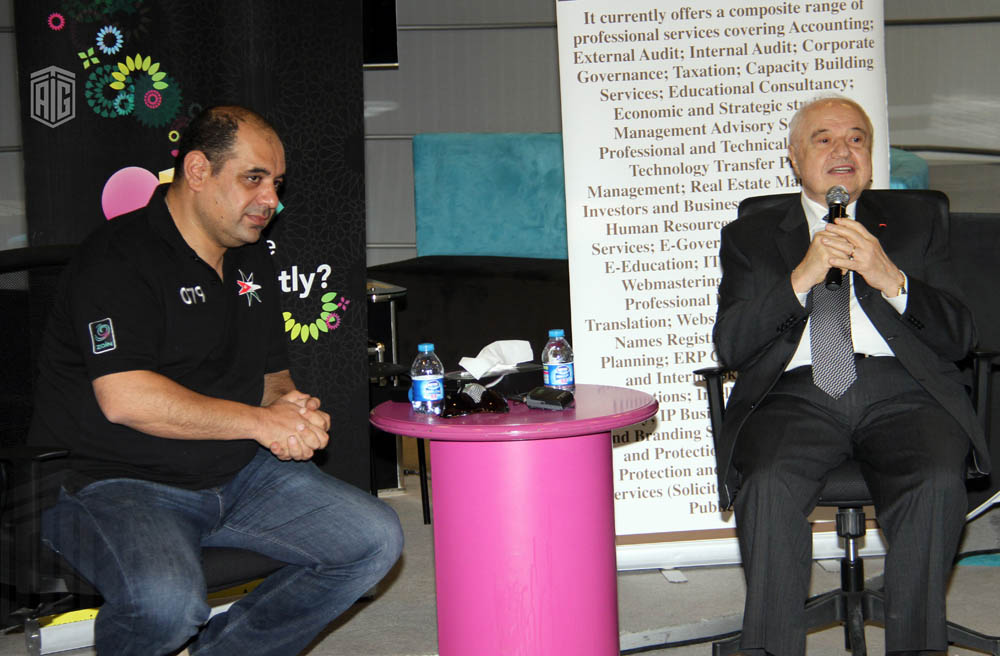 Abu-Ghazaleh Speaks to the Youth at Zain Innovation Campus