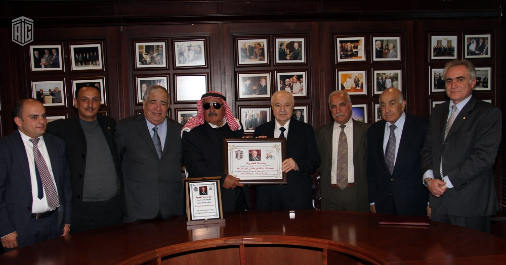 Ma'an Folklore Troupe grants its Honorary Presidency to HE Dr. Talal Abu-Ghazaleh, in recognition for his efforts in supporting development process in Ma'an