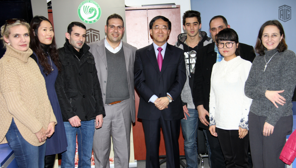 The Chinese Ambassador to Jordan HE Mr. Pan Weifang visited Talal Abu-Ghazaleh Confucius Institute (TAG-Confucius) and Talal Abu-Ghazaleh Chinese Visa Section (TAG-Visa)