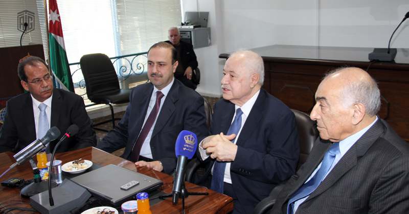 The opening of Talal Abu-Ghazaleh Hall of business news under the patronage of the Minister of State for Media Affairs and government spokesman, HE Dr. Mohammed Al-Momani and in the presence of HE Dr. Talal Abu-Ghazaleh and the General Director of Petra News Agency Faisal Shboul