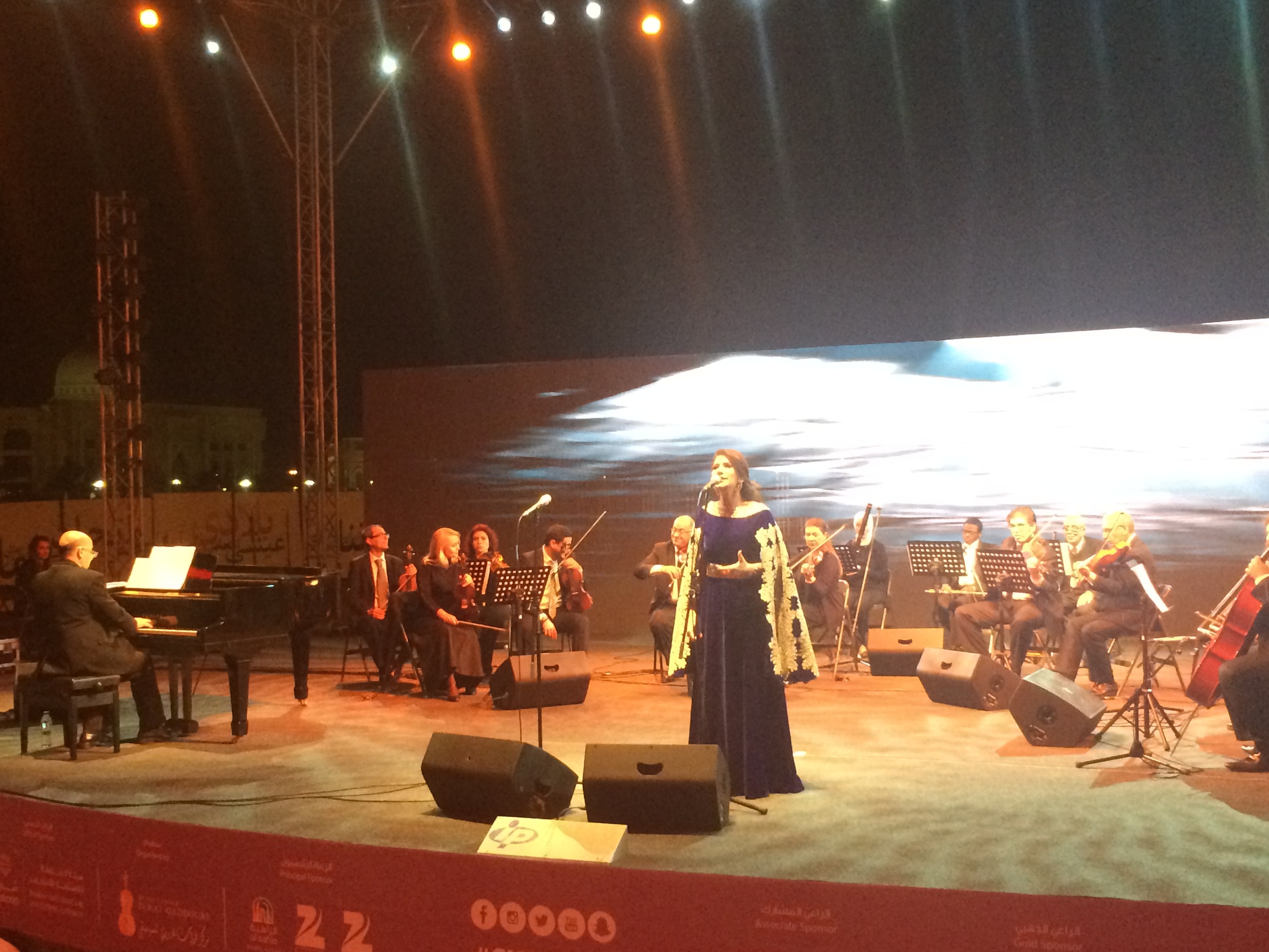 Jordanian National Orchestra Association (JOrchestra) headed by HE Dr. Talal Abu-Ghazaleh participates at the closing night of the third season  of Sharjah World Music Festival  at Al Alam Island in the UAE