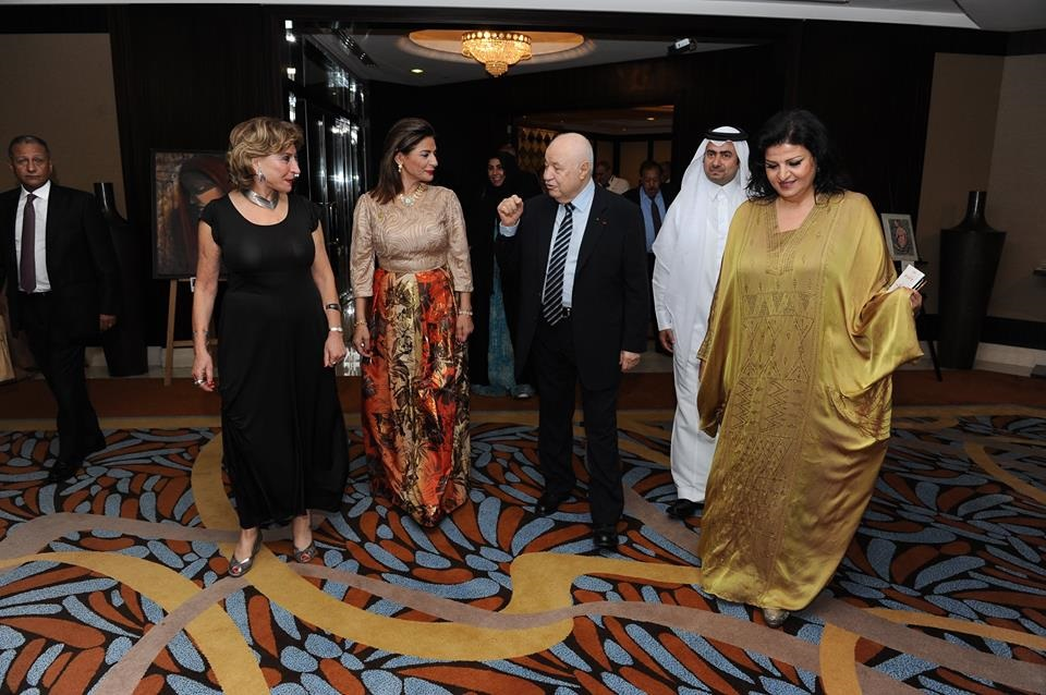 Arab Women's Council for Social Responsibility honors HE Dr. Talal Abu-Ghazaleh during the ceremony of the
