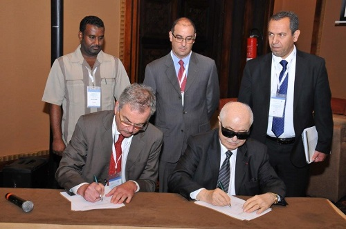 HE Dr. Talal Abu-Ghazaleh head of the Arab States Research and Education Network (ASREN) signs a cooperation agreement with the American University of Beirut (AUB)