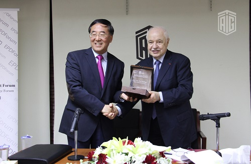 HE Dr. Talal Abu-Ghazaleh hosted Chinese Ambassador to Jordan HE Mr. Pan Weifang at the Economic Policy Development Forum (EPDF) to talk about China's policy in the Arab region.