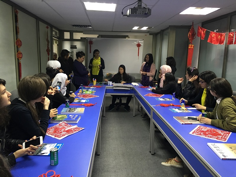 Students of the Arab Model Schools visit TAG-Confucius Institute