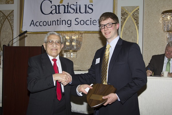 The Talal Abu-Ghazaleh International Award for Excellence in the Accounting Programs at Canisius College in New York granted to Mr. Tyler Owen