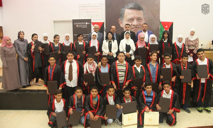 Talal Abu-Ghazaleh E-Training Center organizes the graduation ceremony of the fourth batch of  Abu-Ghazaleh Cambridge course students at King Abdullah II School for Excellence ? Karak.