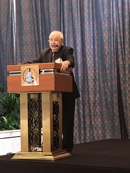 HE Dr. Talal Abu-Ghazaleh speaks at the opening ceremony of the C4ISR Summit