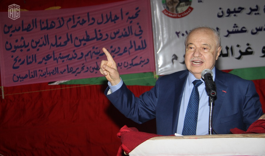 HE Dr. Talal Abu-Ghazaleh, patronizes the opening ceremony of Kufr Soum?s 16th Cultural Forum, entitled, ?Labeik Ya Aqsa? [Oh Beloved Jerusalem]
