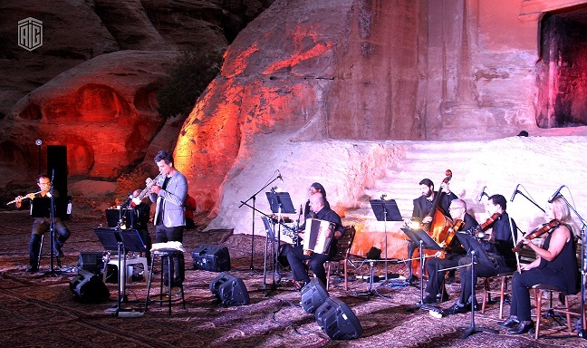 TAG-Org with UNESCO Amman Office and Petra Authority Launched the PETRA Album by Luca Aquino and the Jordanian National Orchestra at the touristic site of Little Petra