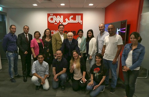 HE Dr. Talal Abu-Ghazaleh visits CNN Middle East headquarters in Dubai