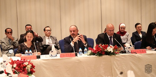 Mr. Luay Abu-Ghazaleh, vice chair of Talal Abu-Ghazaleh Organization participates in a seminar that marks the 40 years of diplomatic relations between Jordan and China organized by Al Rai Center for Studies