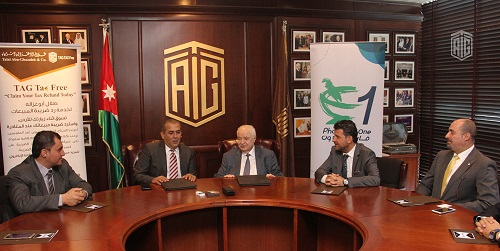 Talal Abu-Ghazaleh Organization and Pharmacy One Group sign partnership agreement to provide Sales Tax Refund Service for tourists and non-resident Jordanians