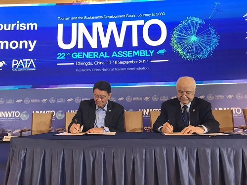 Talal Abu-Ghazaleh Organization and the UN World Tourism Organization sign partnership, First International Smart Tourism Center to be established