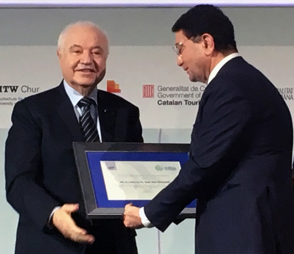 The World Tourism Organization (UNWTO) Names HE Dr. Talal Abu-Ghazaleh a Special Ambassador