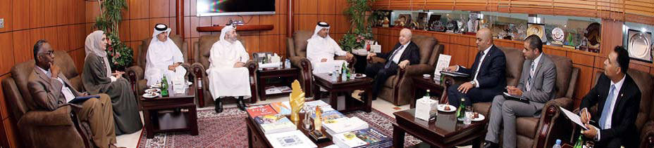 Abu-Ghazaleh Discusses Areas of Cooperation with Qatar's Dar Al-Sharq Group in Media and Social Responsibility