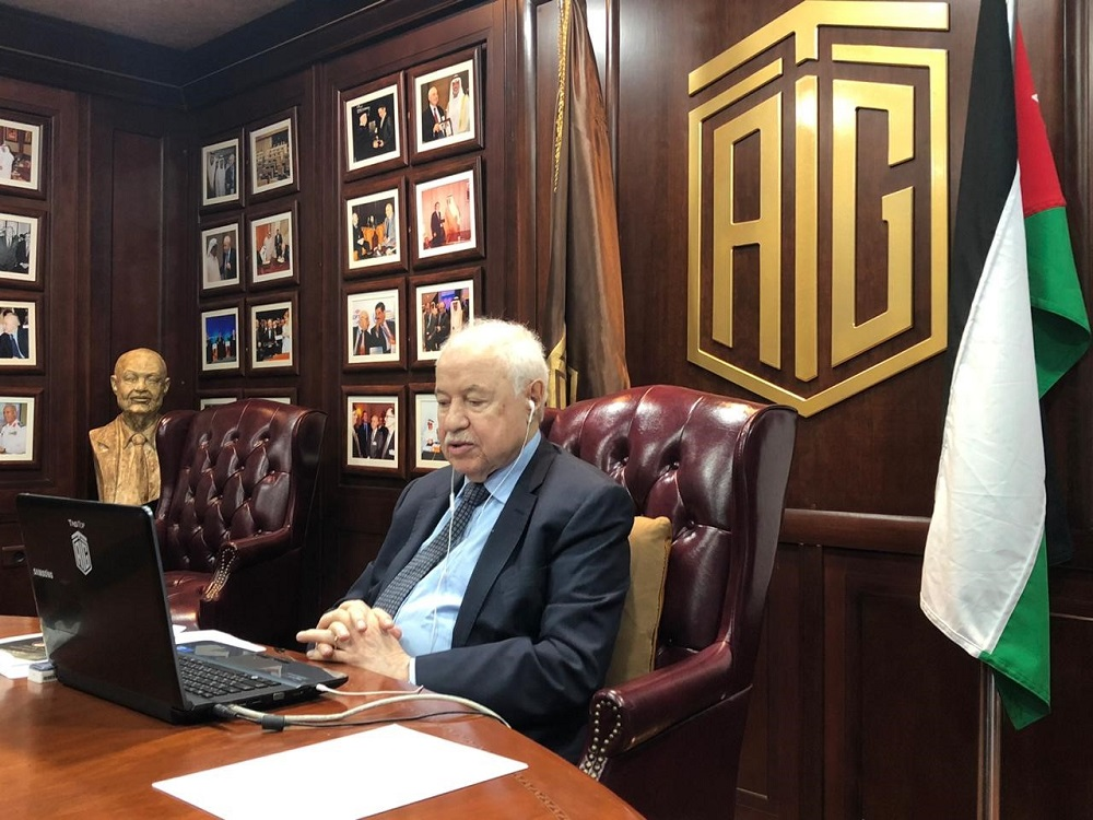 In a virtual session with Alumni of the American University in Cairo Abu-Ghazaleh: Corona Epidemic Enforces Jordanian Economy to Adopt 'Self-reliance' Slogan