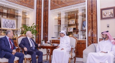 Ruler of Ajman Discusses with Abu-Ghazaleh Economic Issues