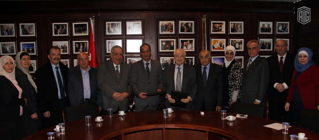 The signing ceremony of a cooperation agreement between Talal Abu-Ghazaleh Organization (TAG-Org) and Jordan News Agency (Petra) in the field of media