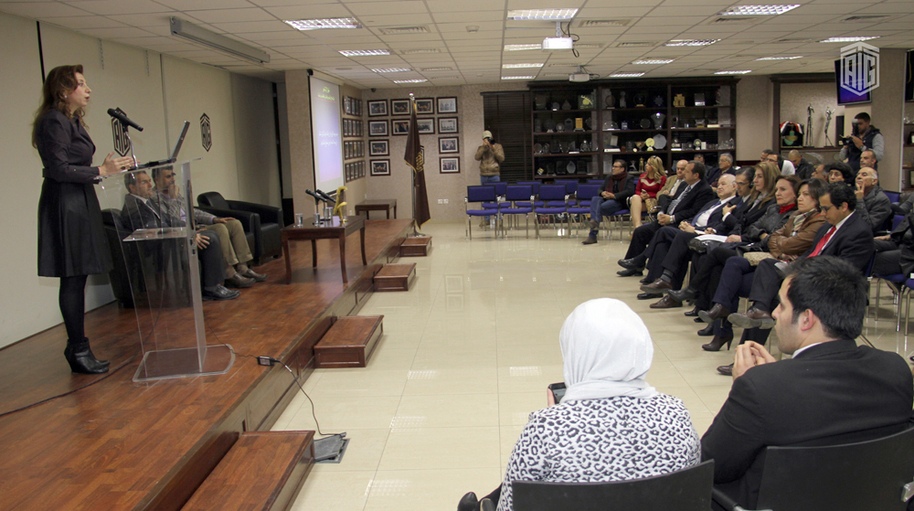 """Under the patronage of HE Dr. Talal Abu-Ghazaleh, the Talal Abu-Ghazaleh Knowledge Forum (TAGKF) hosted a seminar for the Jordanian Oncology Society (JOS) on the """" Prevention of Cancer"""" presented and moderated by Dr. Sana Al-Sukhun, Hematologist –Oncologi"""