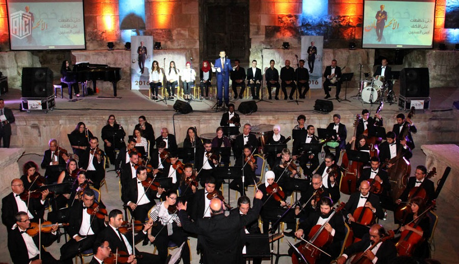 """Under the Patronage of HE Dr. Talal Abu-Ghazaleh, the Jordanian National Orchestra (JOrchestra) presents the renowned singer Ayman Tayseer in """"Aaz Al Alhan"""" concert."""