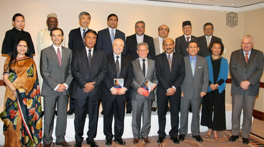 HE Dr. Talal Abu-Ghazaleh, guest of honor of ALIF and Commonwealth Group ambassadors upon the invitation of the Ambassador of the Republic of Indonesia HE Mr. Teguh Wardoyo