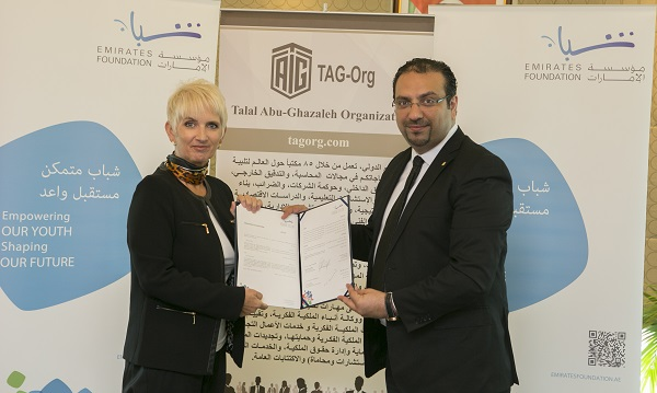 Talal Abu-Ghazaleh Foundation and Emirates Foundation sign a memorandum of understanding (MoU) to build capacity and knowledge among Arab youth