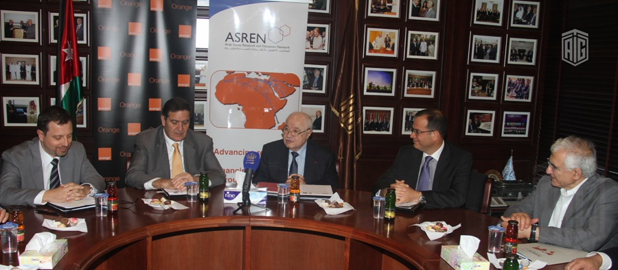 HE Dr. Talal Abu-Ghazaleh, Chairman of the Arab States Research and Education Network (ASREN), HE Dr. Khaled Toukan, Director General of the Synchrotron-light for Experimental Science and Applications in the Middle East (SESAME); and HE Mr. Jérôme Hénique