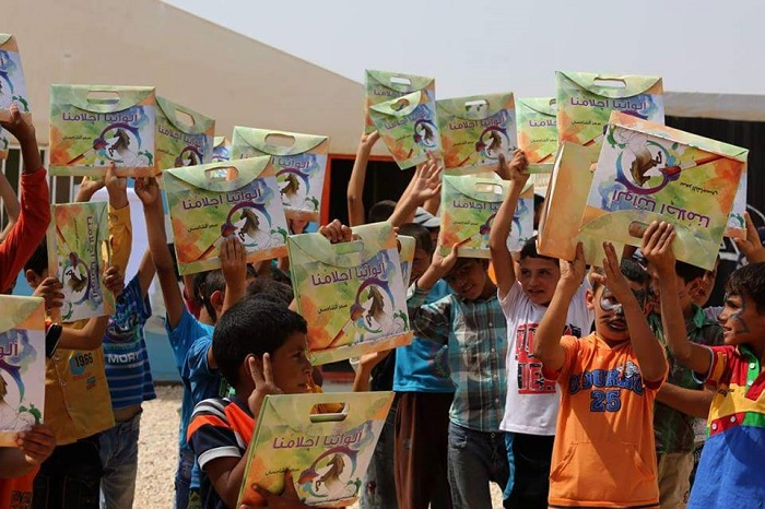 Talal Abu-Ghazaleh Organization (TAG-Org), in cooperation with the UAE Embassy in Amman and the Greater Amman Municipality, organizes a humanitarian campaign for the Emirati artist Dr. Samar Al Shamsi in support of Syrian refugee children.