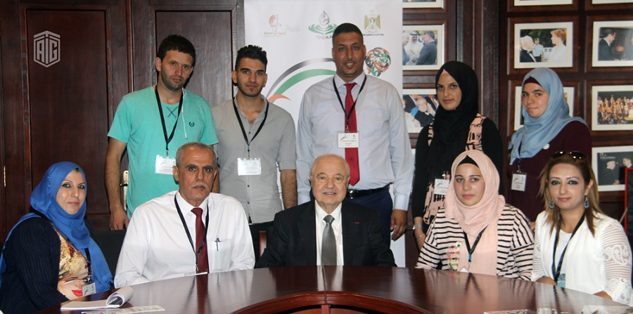 """""""The Palestinian Innovation Journey"""" delegation from the Bethlehem and Hebron visited HE Dr. Talal Abu-Ghazaleh to present their innovations and inventions"""
