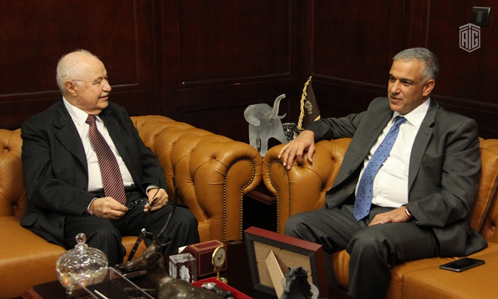 HE Dr. Talal Abu-Ghazaleh and HE Mr. Ramzi Nuzha, Jordan's new General Comptroller of companies, discuss partnership between private and public sectors