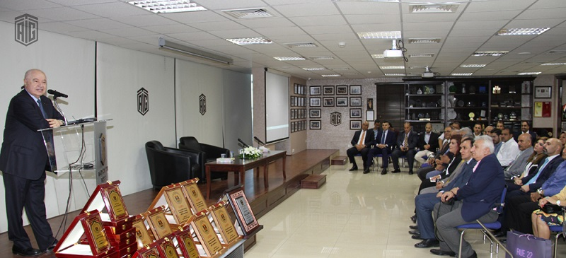 HE Dr. Talal Abu-Ghazaleh honors outstanding Iraqi students from Jordanian universities in a ceremony attended by Iraqi Ambassador to Jordan HE Ms. Safia Al-Souhail