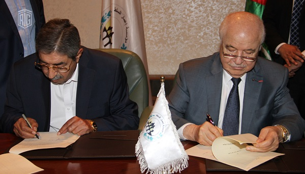 HE Dr. Talal Abu-Ghazaleh and HE Mr. Marwan Al Hamoud, the Chairman of the Management Board for Salt Development Corporation, sign a cooperation agreement to establish a Talal  Abu-Ghazaleh Knowledge Station in Salt Development Corporation