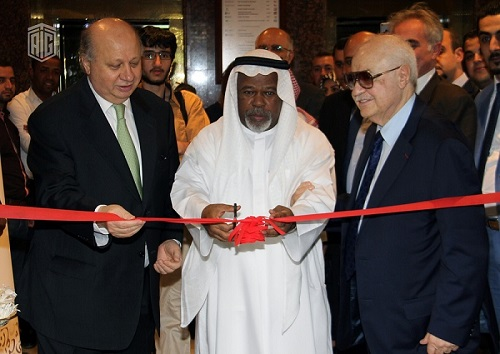 HE Dr. Talal Abu-Ghazaleh and HE Mr. Bilal Al Bdour, Ambassador of the United Arab Emirates to Jordan, inaugurate the Arabic Calligraphy Exhibition (Midad) in the presence of the Guest of Honor HE Mr. Nabih Shuqum, Minister of Culture