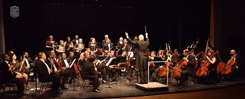HE Dr. Talal Abu-Ghazaleh and the Italian Ambassador to Amman HE Mr.  Giovanni Brauzzi attend a concert presented by the Jordanian National Orchestra Association and conducted by Italian Maestro Francesco Attardi in the presence of Guest of Honor Minister