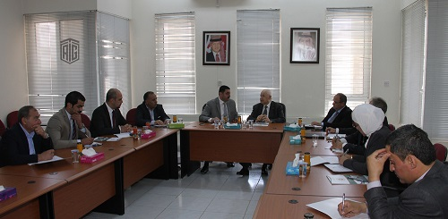HE Dr. Talal Abu-Ghazaleh discusses with Mr. Hani AbuHassan, Chairman of Irbid Chamber of Industry, ways to support and promote the industry in Irbid Governorate