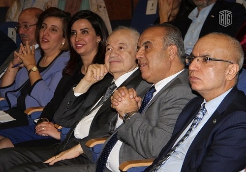 HE Dr. Talal Abu-Ghazaleh lectures at the University of Jordan during the Mentoring Day