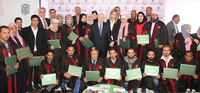 HE Dr. Talal Abu-Ghazaleh patronizes a ceremony to honor outstanding students from Toledo Community College for Technical and Vocational Education in Irbid governorate