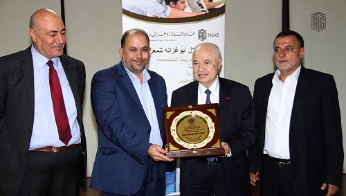 HE Dr. Talal Abu-Ghazaleh patronizes the graduation ceremony of the 1st batch of the knowledge station students in Irbid Camp